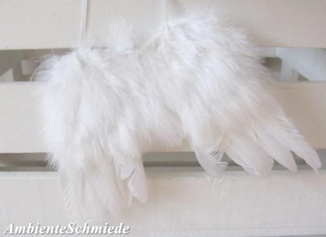 Feder Flugel Engelsflugel Weiss 10cm Anhanger Weihnachtsbaum Deko