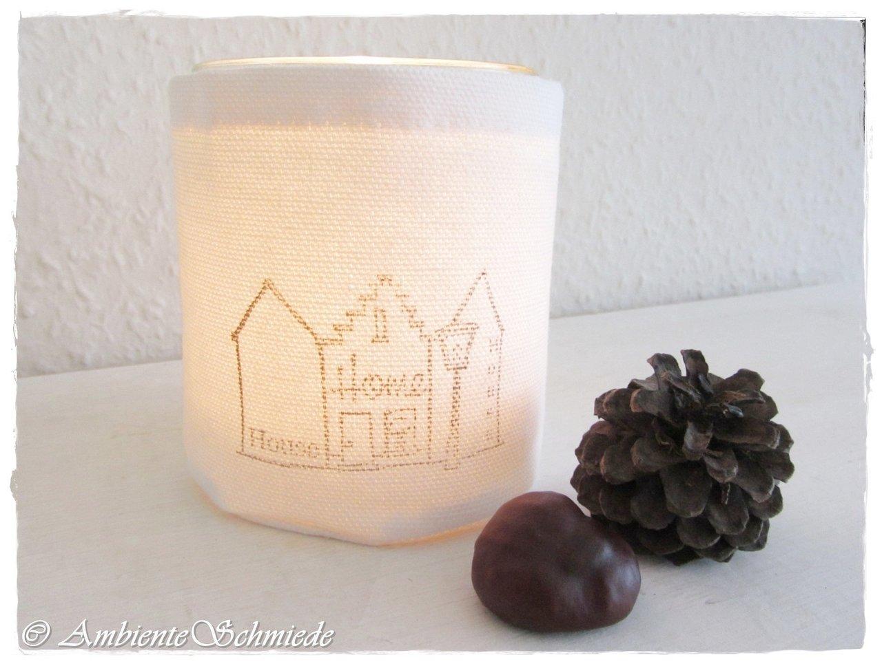 Windlicht Teelicht Sweet Home Haus Hauser Weihnachten Shabby