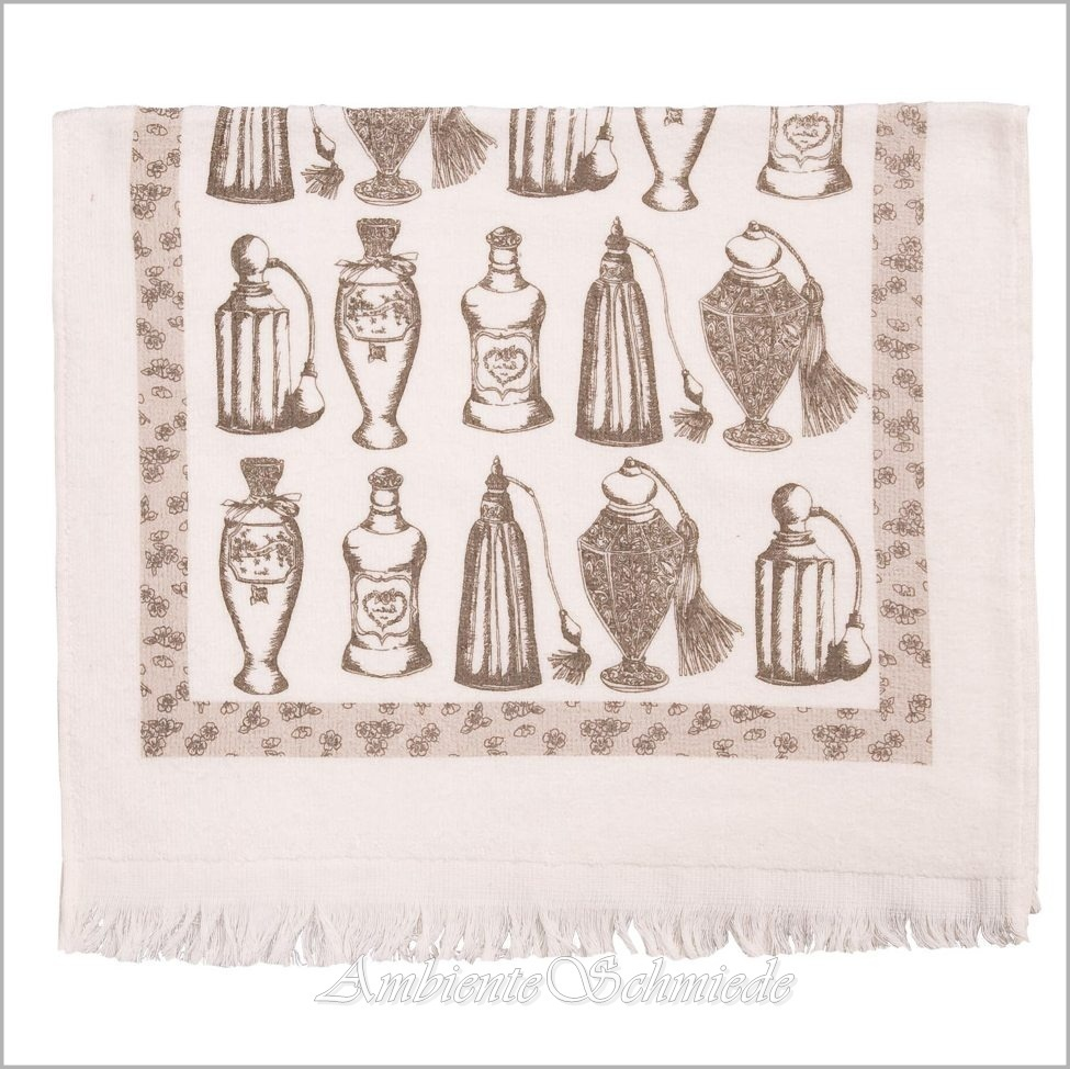 CLAYRE & EEF Gäste-Handtuch CHAMBRE DE Parfum-Flakons Shabby Vintage ...