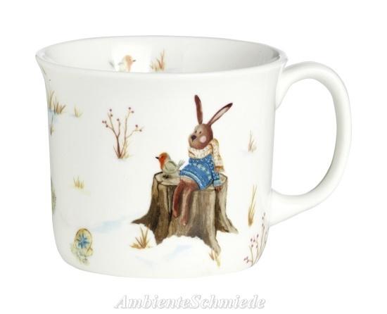Porzellan Weihnachten.Ihr Tasse Hase Schneemann Porzellan Kinder Winter Weihnachten Shabby Landhausstil