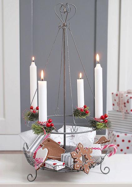 krasilnikoff adventskranz halter kerzenhalter draht metall. Black Bedroom Furniture Sets. Home Design Ideas