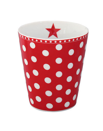Krasilnikoff Happy Mug Becher Punkte rot New Dots red