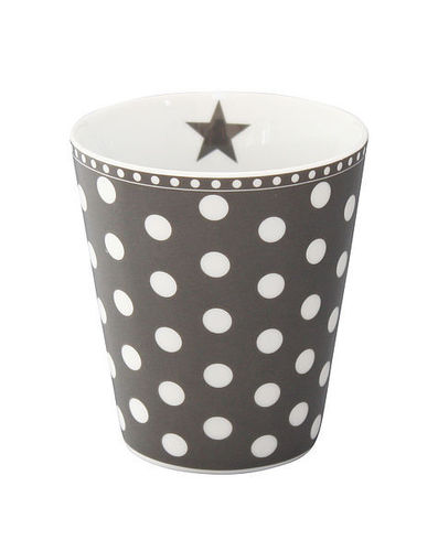 Krasilnikoff Happy Mug Becher Punkte dunkelgrau New Dots charcoal
