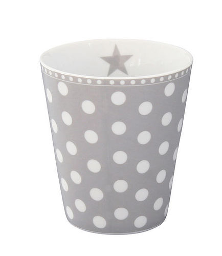 Krasilnikoff Happy Mug Becher Punkte hellgrau New Dots lightgrey