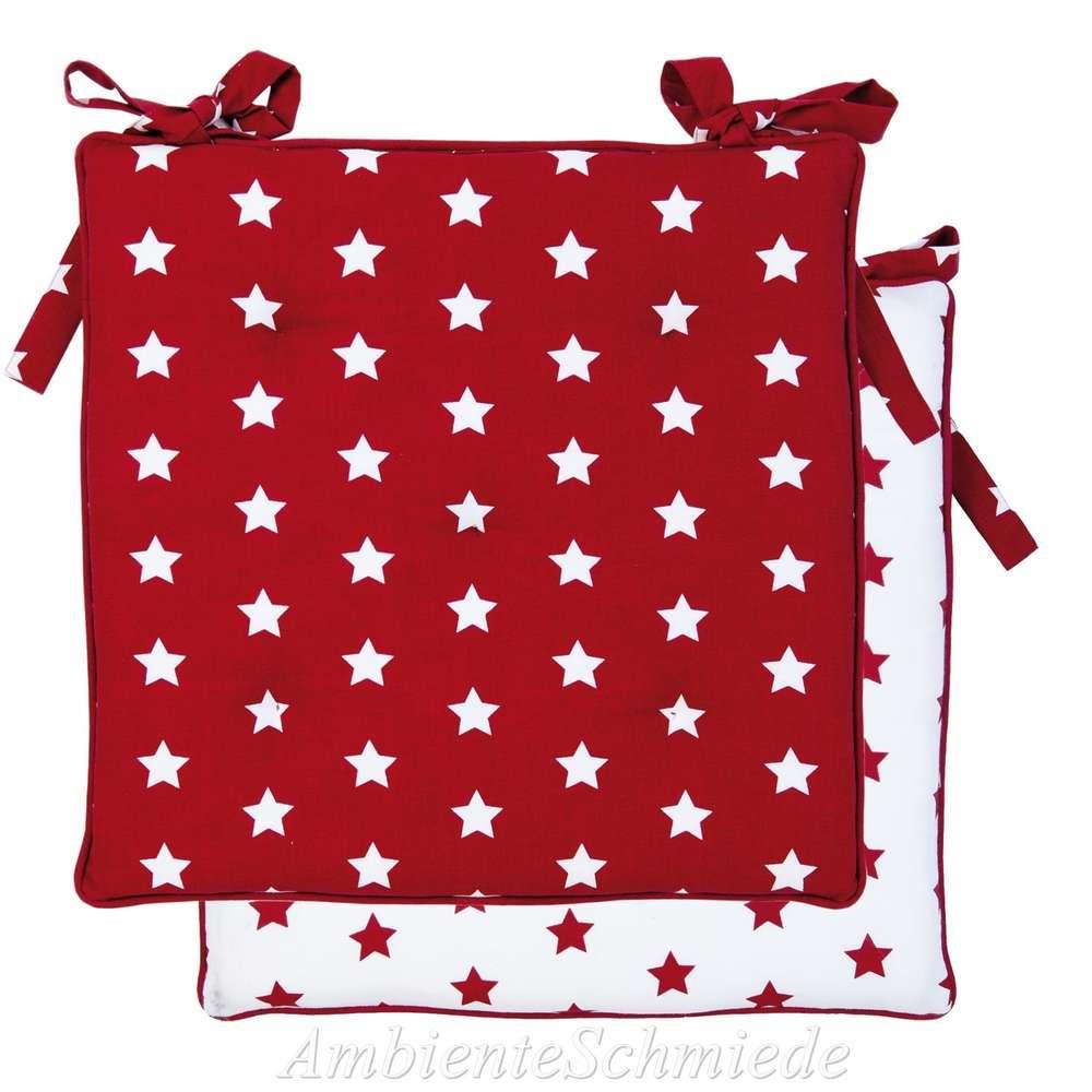 CATCH A STAR Kissenhülle 40x40 cm rot-weiß