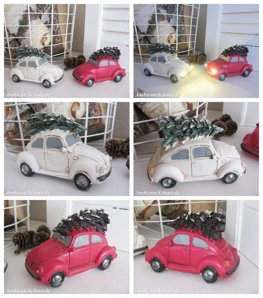 vw k fer mit tannenbaum led licht auto deko weihnachten shabby nostalgie 11cm ambienteschmiede. Black Bedroom Furniture Sets. Home Design Ideas