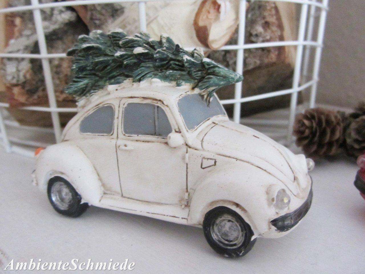 vw k fer mit tannenbaum led licht auto deko weihnachten. Black Bedroom Furniture Sets. Home Design Ideas