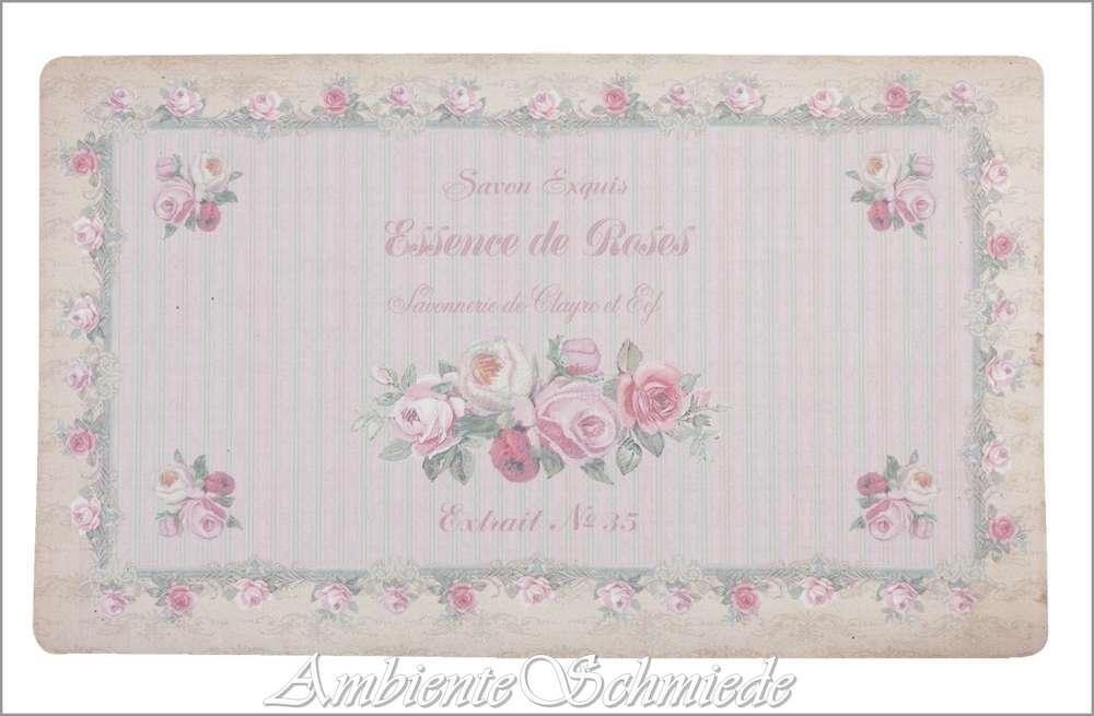 Fußmatte Landhausstil clayre & eef fußmatte fußabtreter savonnerie rosen shabby chic