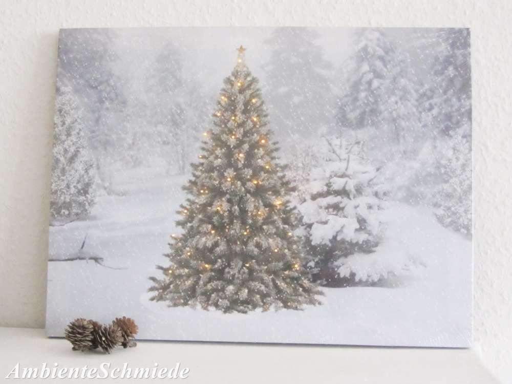 Weihnachtsbaum deko schnee
