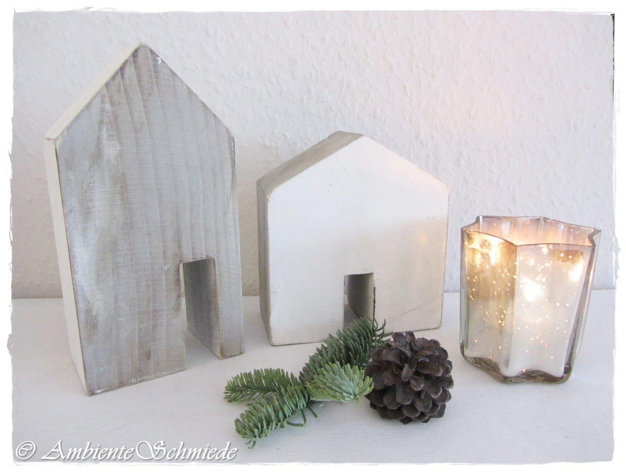 holz haus haus fassade h user kulisse lichterhaus 2 tlg deko weihnachten skandi ambienteschmiede. Black Bedroom Furniture Sets. Home Design Ideas