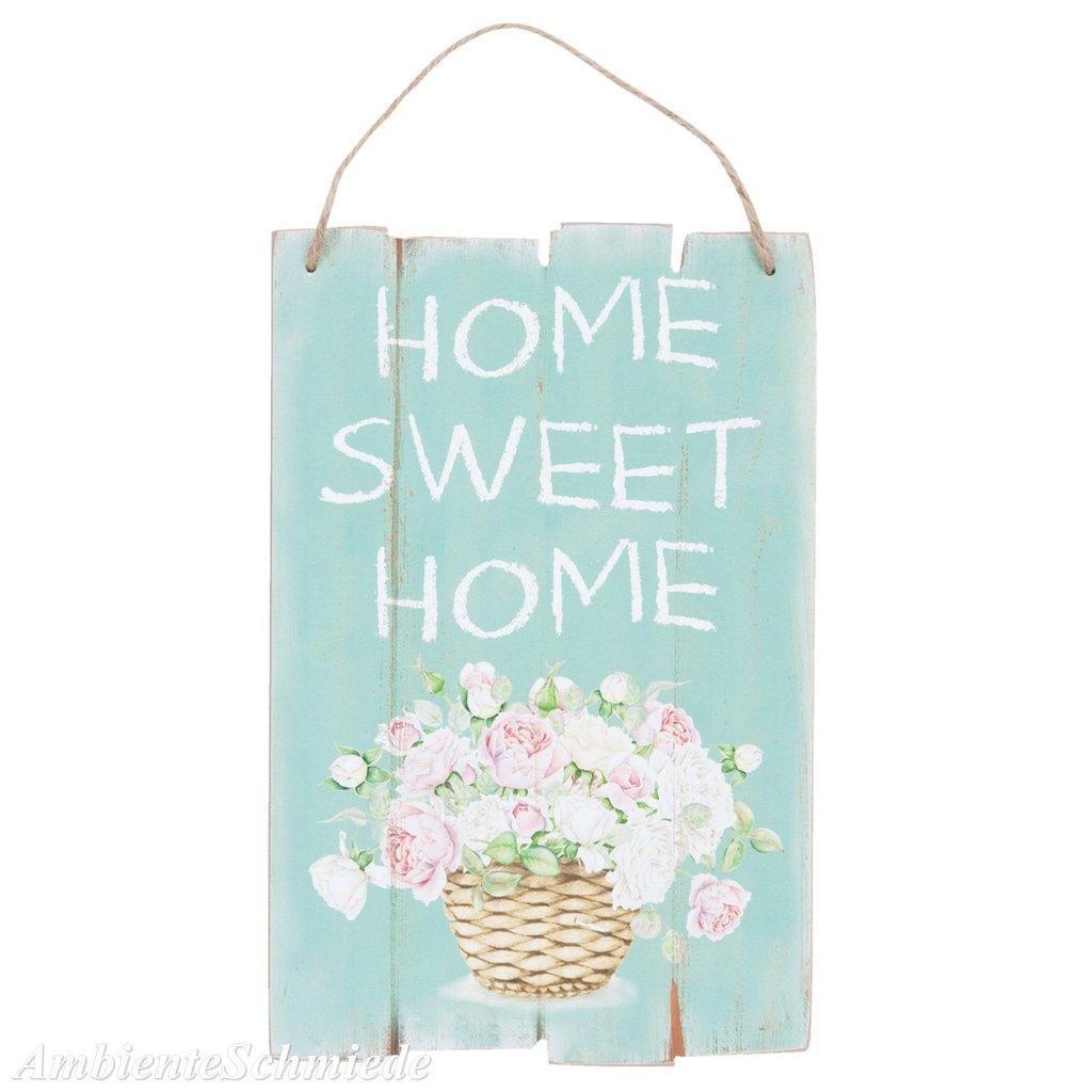 deko schild bild home sweet home rosen pastell holz 30x20 shabby vintage landhaus ambienteschmiede. Black Bedroom Furniture Sets. Home Design Ideas