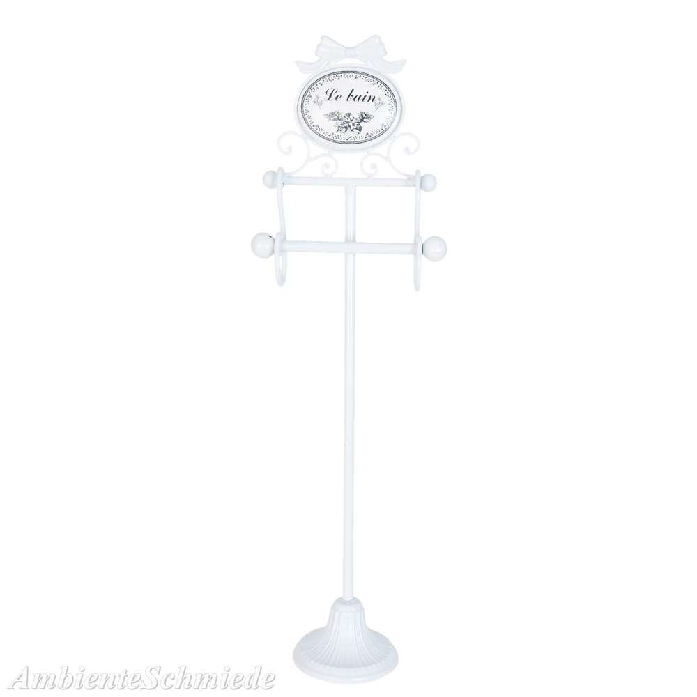 CLAYRE /& EEF Wandregal Handtuch-Halter Haken LE BAIN Badezimmer weiß Shabby