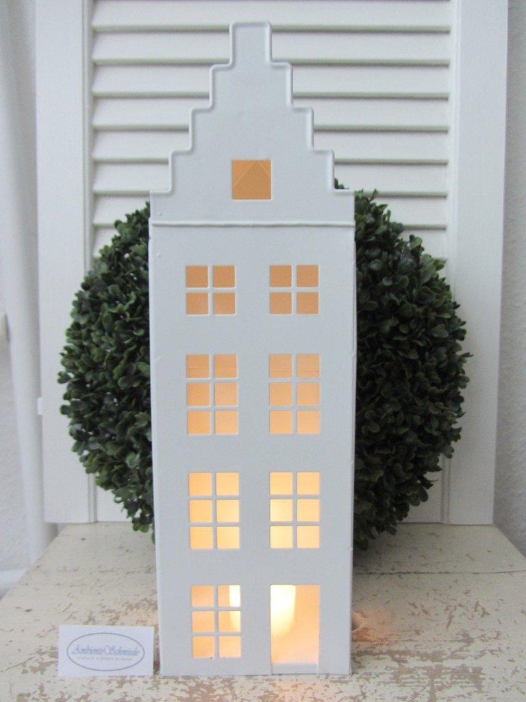 gr kerzenhaus teelichthaus lichter haus laterne wei. Black Bedroom Furniture Sets. Home Design Ideas