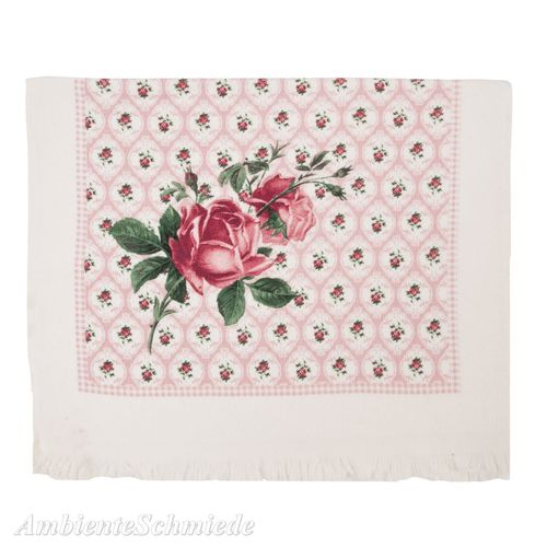 CLAYRE & EEF Gäste-Handtuch ROSE rosa-pink Romantik Shabby Chic Landhaus ctlor