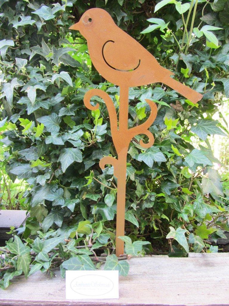 Bekannt Garten-Stecker VOGEL Rost-Look Deko Garten Shabby Landhausstil QE03