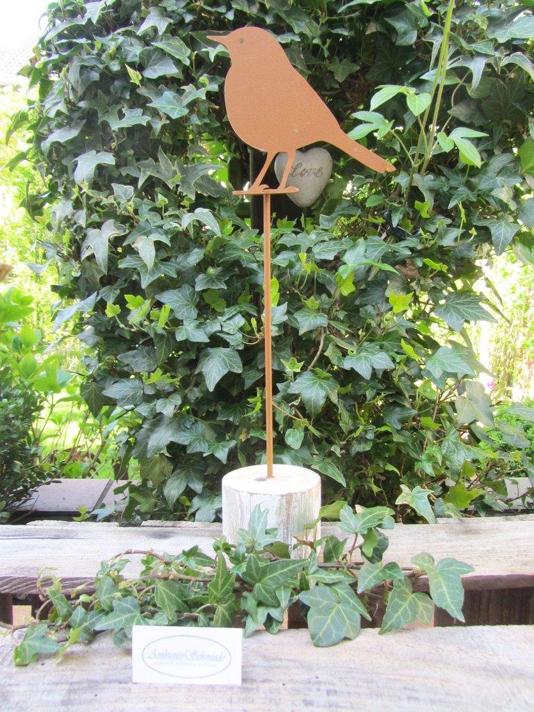 Relativ Garten-Deko Figur VOGEL Rost-Look Deko Garten 35cm Shabby WL02