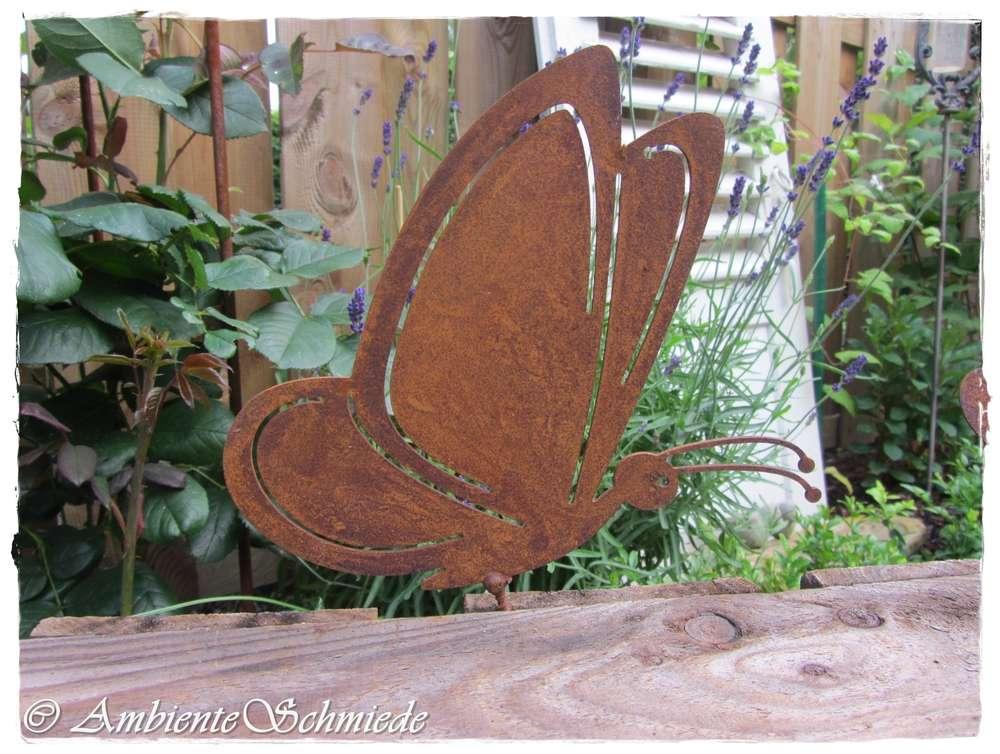 Rost Schmetterling Garten Deko Rost Deko Zaun Hocker Tier Rostig Z