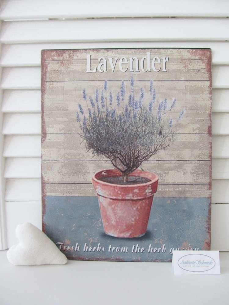 Shabby Frankreich blech-bild schild lavendel mediterran provence frankreich shabby