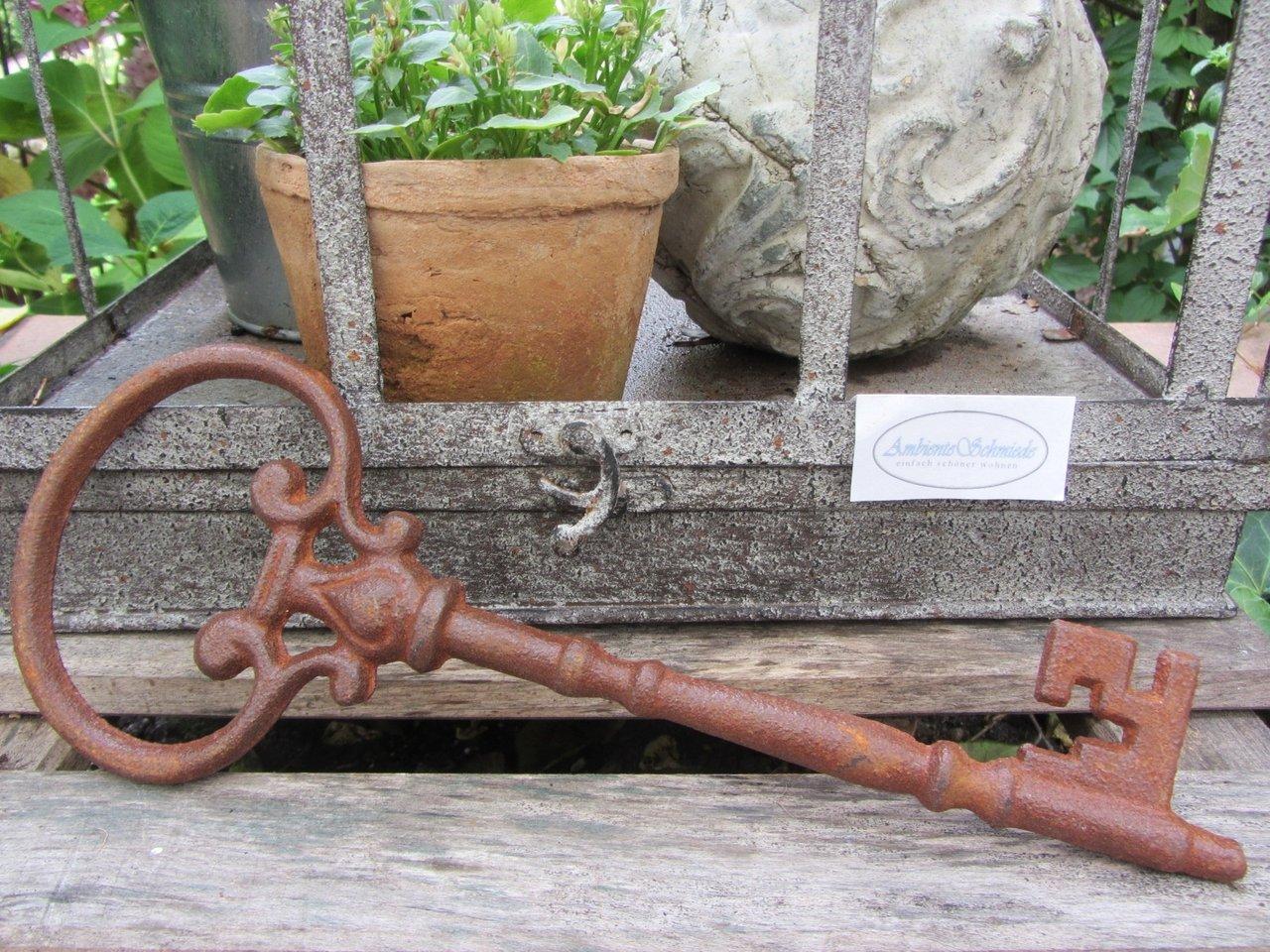 5er Schlüsselbund Gusseisen Deko Schlüssel Landhaus Nostalgie Garten Shabby Chic