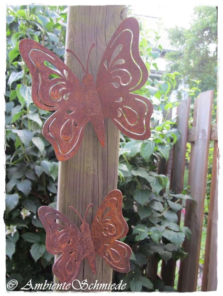 Rost Schmetterling 15 20cm Garten Deko Rost Deko Zaun Hocker Tier