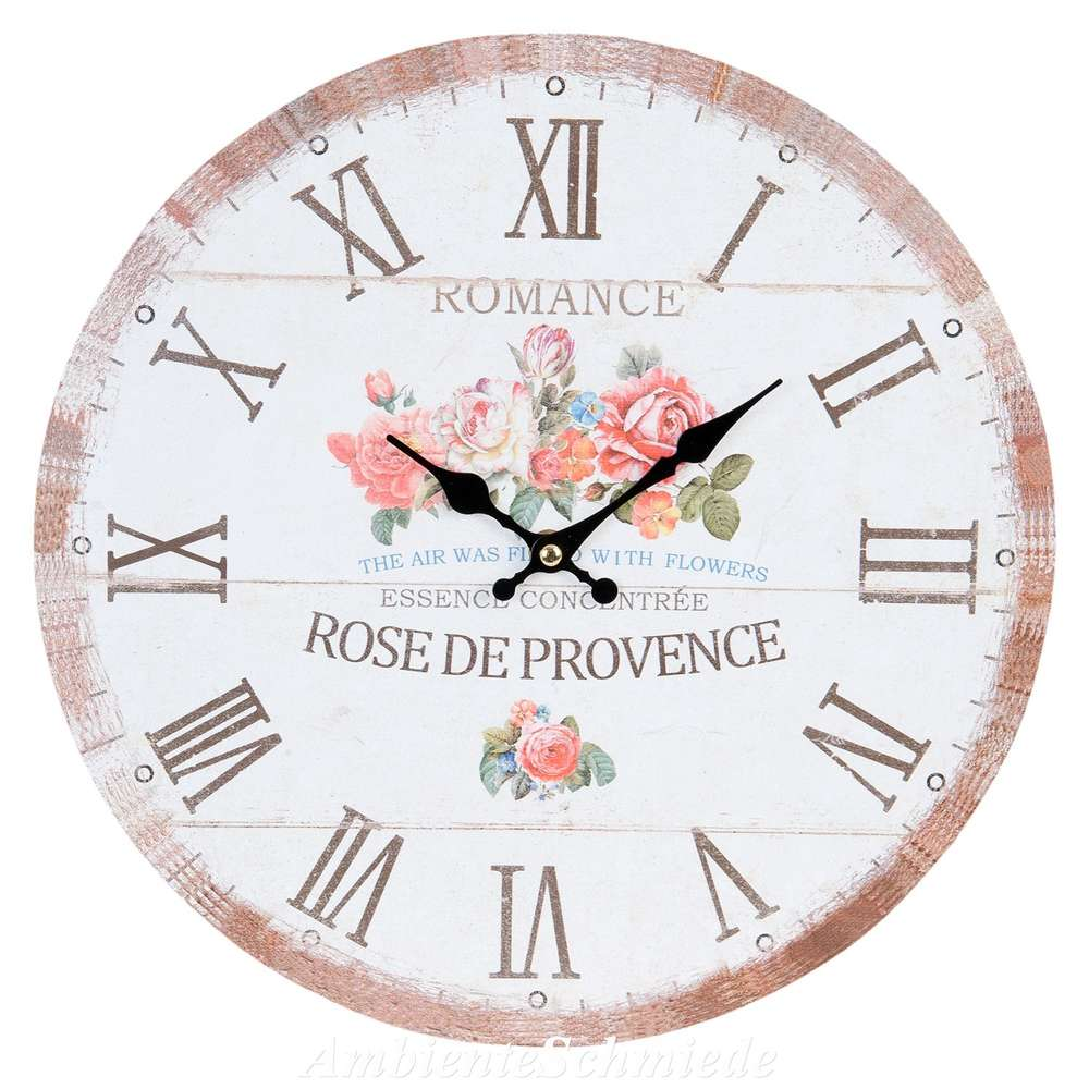 Uhr Wanduhr Kuchenuhr Romance Rosen 34cm Shabby Vintage Antik