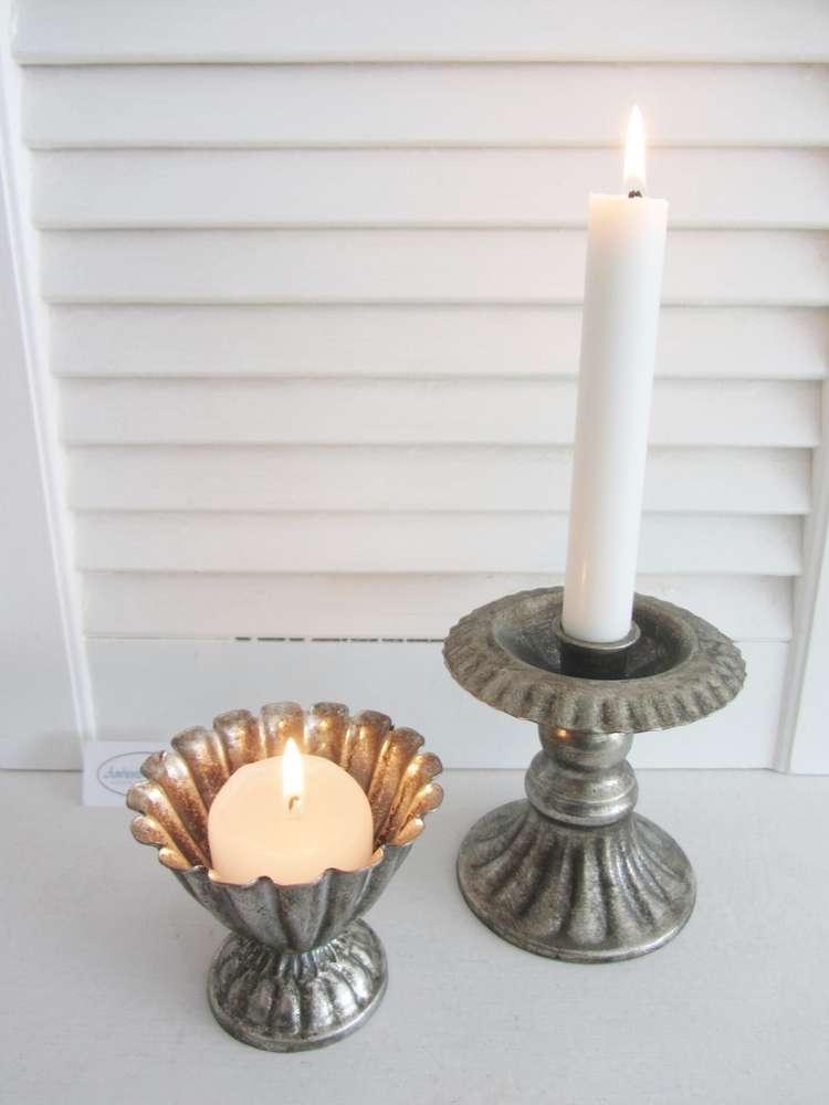 Herz Shabby Vintage Nostalgischer Kerzenhalter Kerzenleuchter Kammerleuchter