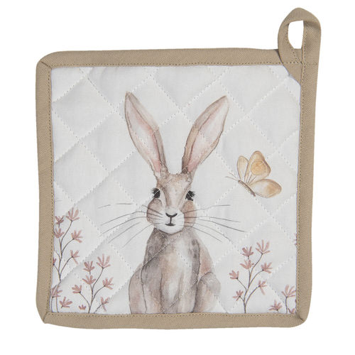 CLAYRE & EEF Topflappen HASE Osterhase Punkte Ostern Shabby reb45
